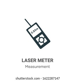 Laser meter glyph icon vector on white background. Flat vector laser meter icon symbol sign from modern measurement collection for mobile concept and web apps design.