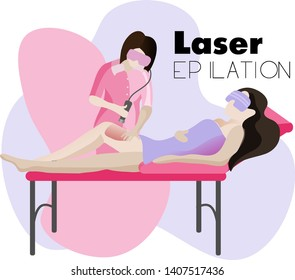 Laser and photoepilation. Hair removal, Icon. Beauty salon.