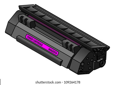 A laser printer toner cartridge -