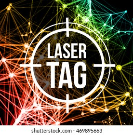 Laser tag with target