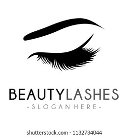 Lash Logo, Luxury Beauty Eye Lashes Logo Design Inspiration Vector
