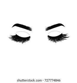 Lashes extensions. Logo.  Vector illustration