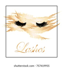 Lashes logo. Vector illustration