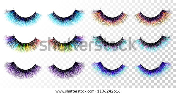 6da5c0b573a Lashes set. False eyelashes collection. Trendy colors. Blue. Pink. Purple.
