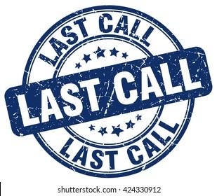 last call. stamp