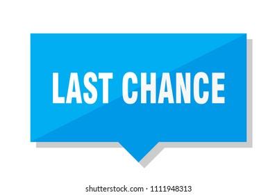 last chance blue square price tag