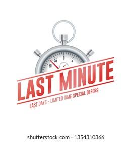 Last Minute Chrono Time Label