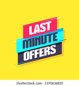 Last Minute Offers Label
