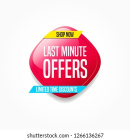 Last Minute Offers Shop Now Label