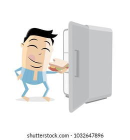 late night snack eating sandwich clipart
