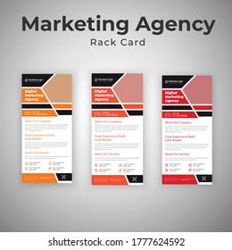 Latest Creative Marketing Agency Rack Card Or Dl Flyer Template