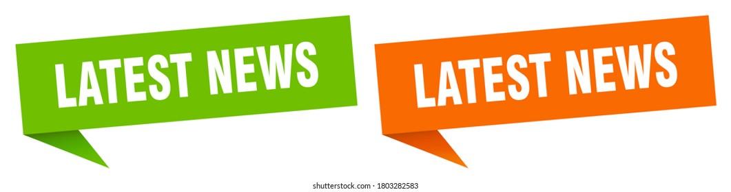 latest news banner.  latest news sign