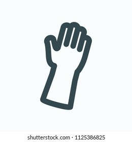 Latex gloves vector icon