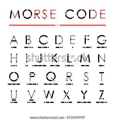 Latin Alphabet International Morse Code Visual Stock Vector Royalty