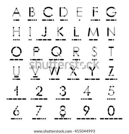 Latin Alphabet Numerals International Morse Code Stock Vector