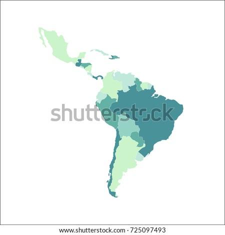 Latin America Map Vector Illustration Stock Vector Royalty Free