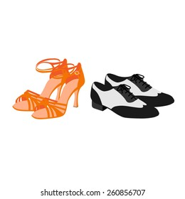 Latin dancing shoes vector