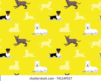 Latin Dog Brazilian Terrier Seamless Wallpaper