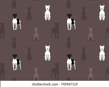 Latin Dog Dogo Argentino Seamless Wallpaper