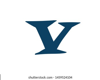 Latin letter V. Vector. Logo for the company. Icon for the site. Separate letter from the alphabet. Barbed pleasant shape.