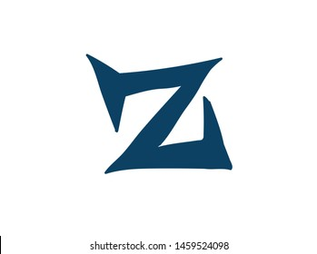 Latin letter Z. Vector. Logo for the company. Icon for the site. Separate letter from the alphabet. Barbed pleasant shape.