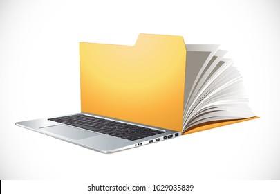Latop concept - PC as computer data folder