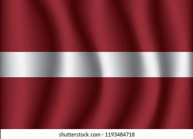 Latvia flag background with cloth texture. Latvia Flag vector illustration eps10.