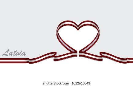 latvia flag and ribbon