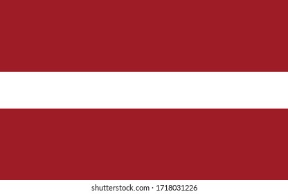 Latvia flag vector graphic. Rectangle Latvian flag illustration. Latvia country flag is a symbol of freedom, patriotism and independence.