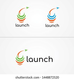 Lauch logo template for company or personal