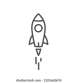 lauch rocket icon line style vector image