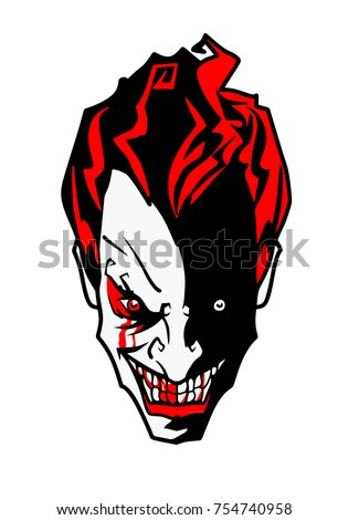 laughing angry scary joker face stock vector royalty free
