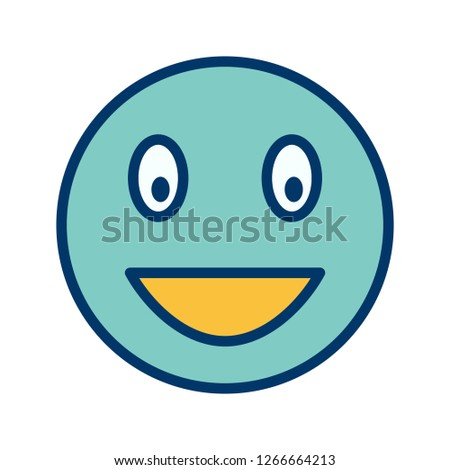 Laughing Emoji Vector Icon Sign Icon Stock Vector (Royalty