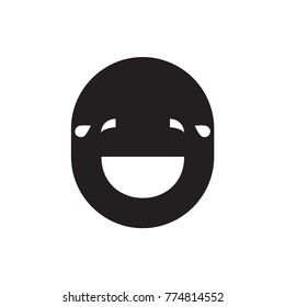 laughing emoticon icon illustration isolated vector sign symbol