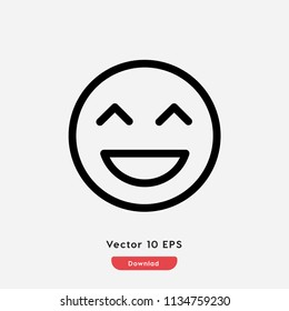 Laughing,emotion icon.Fun,face vector. Humor,smile,smiley,positive symbol for web and mobile apps
