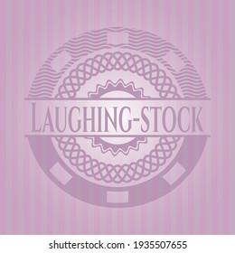 Laughing-stock vintage pink emblem. Conceptual design.