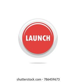 Launch button icon vector