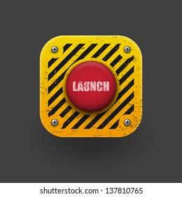 Launch button icon.  Vector eps10