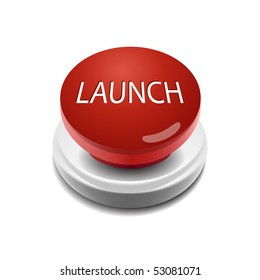 launch vector illustration button