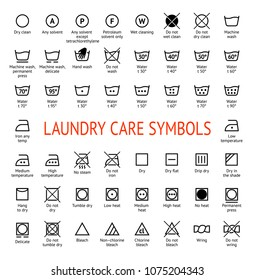 Wash Care Symbol Images, Stock Photos & Vectors | Shutterstock