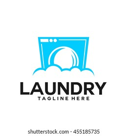 Laundry, Cleaning Service logo template