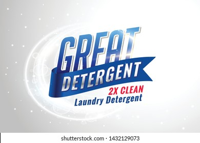 laundry detergent packaging concept for clean fabrics
