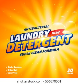 laundry detergent product package design template