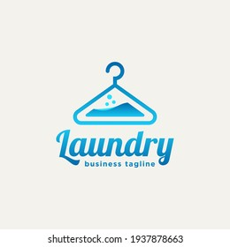 laundry hanger minimalist line art flat logo icon template vector illustration design. simple modern label logo concept