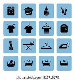 Laundry icon. Housework icon. Vector Illustration. EPS10