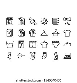 laundry icon line with black color