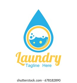 laundry icon with text space for your slogan / tag line, vector illustration
