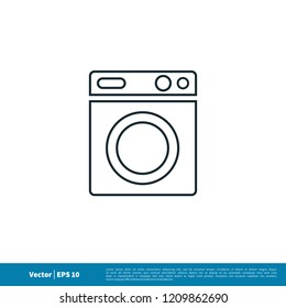 laundry icon vector logo template