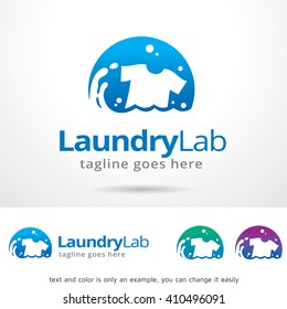Laundry Lab Logo Template Design Vector