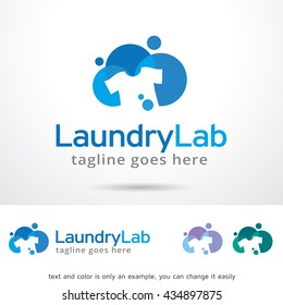 Laundry Lab Logo Template Design Vector